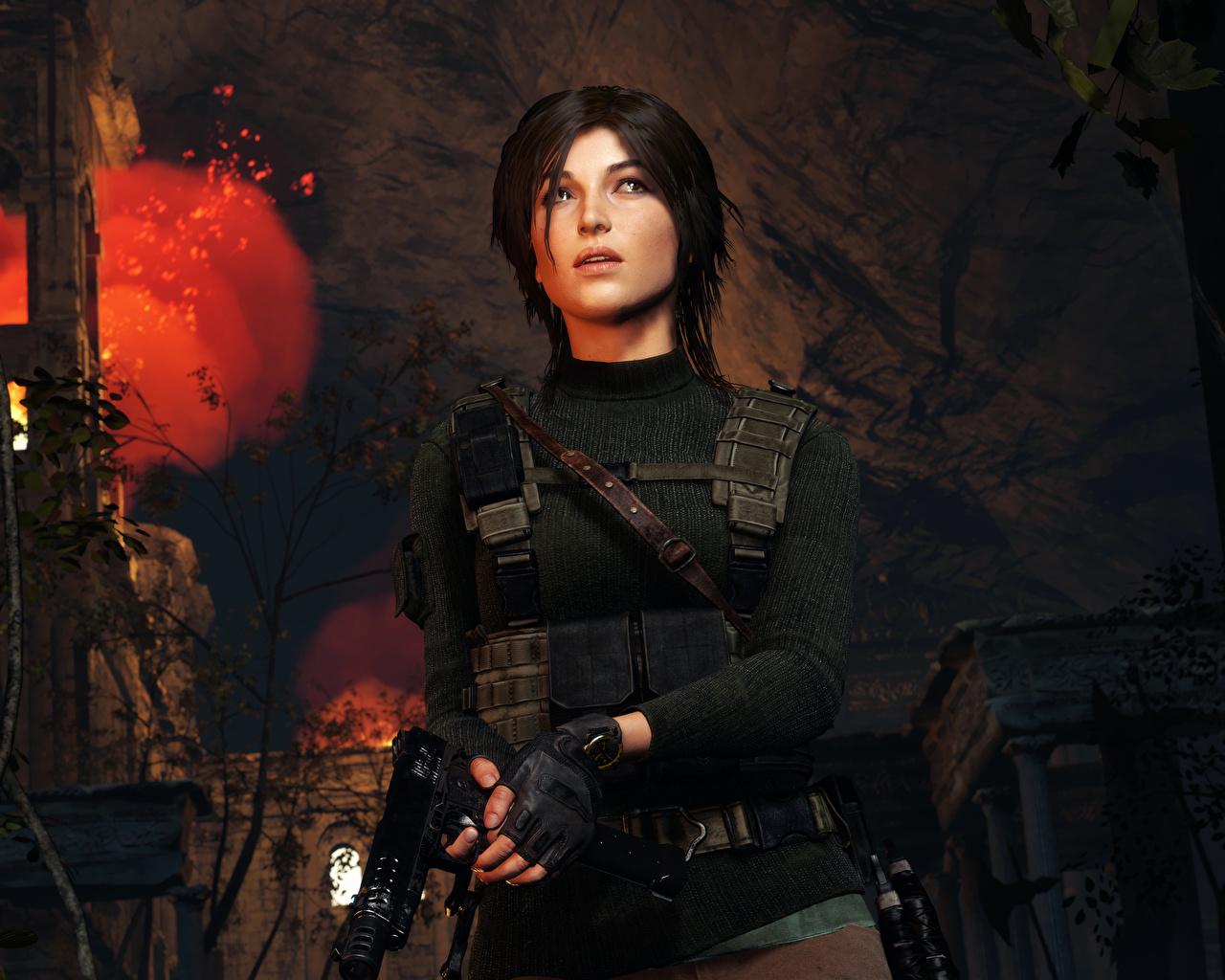 Photos Rise of the Tomb Raider pistol Lara Croft Girls 3D