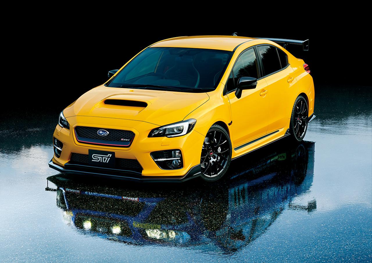 壁紙 スバル Wrx Sti 黄色 自動車 ダウンロード 写真