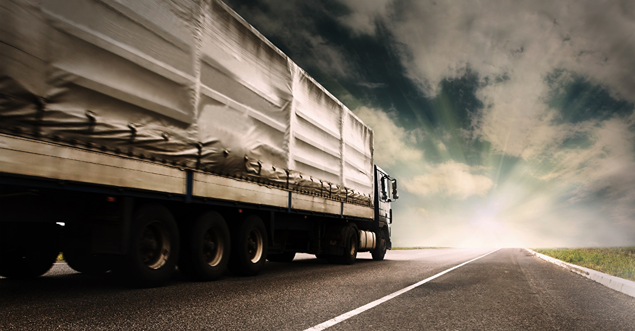 Pictures lorry White Sky Roads Cars Trucks auto automobile