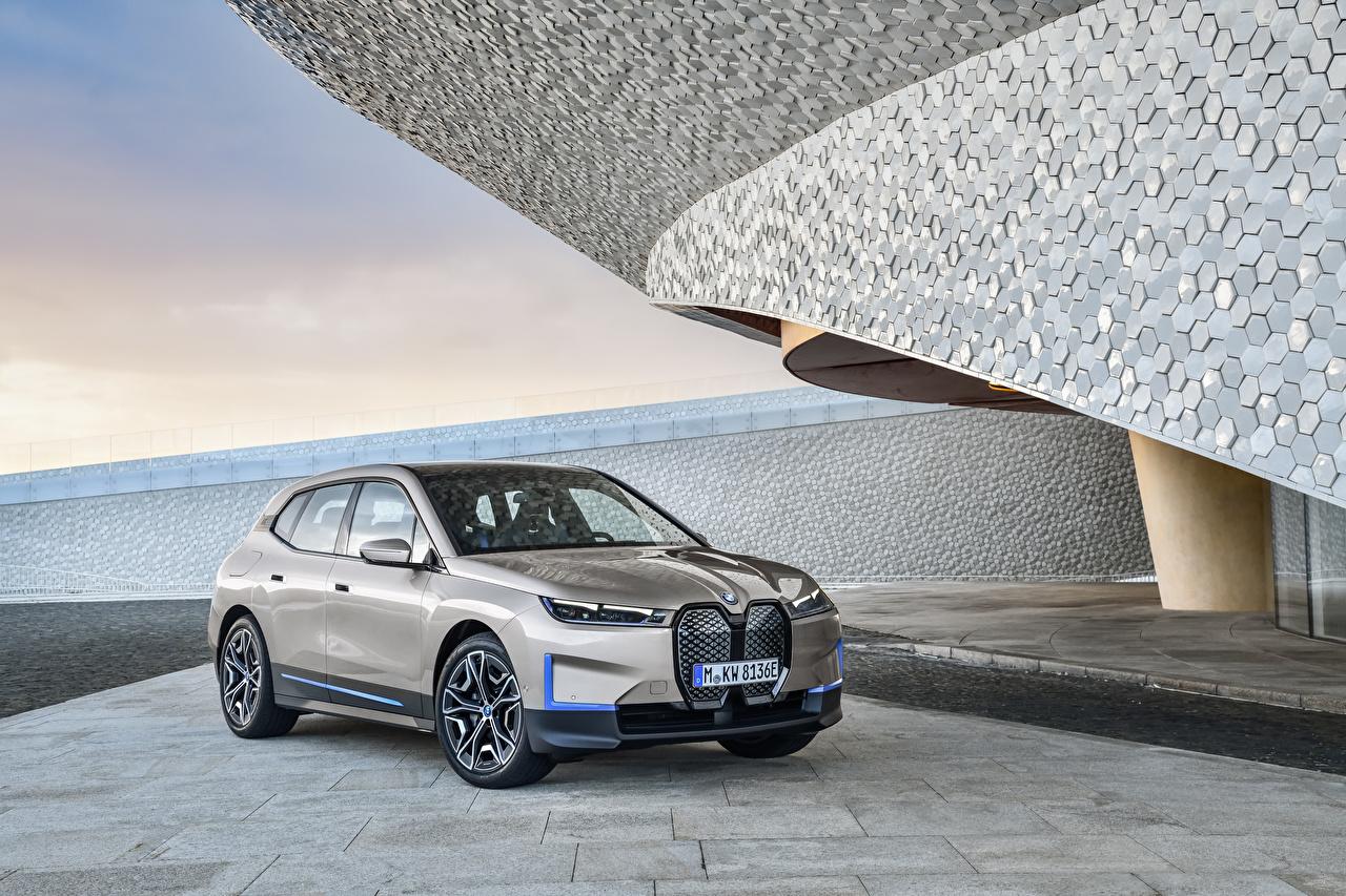 Fotos BMW Crossover iX, Worldwide, (i20), 2021 Grau Autos Metallisch Softroader graue graues auto automobil