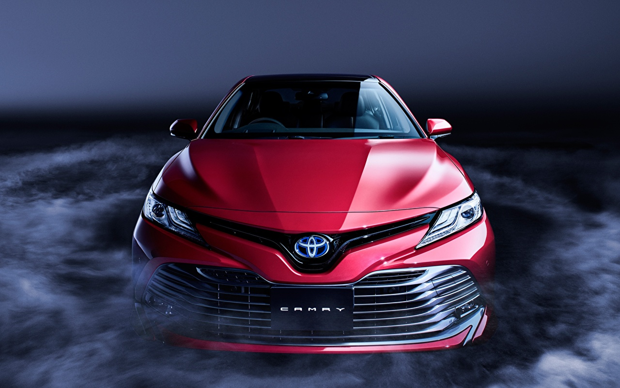 Images Toyota Camry Sight XV70 Red Cars Front auto automobile