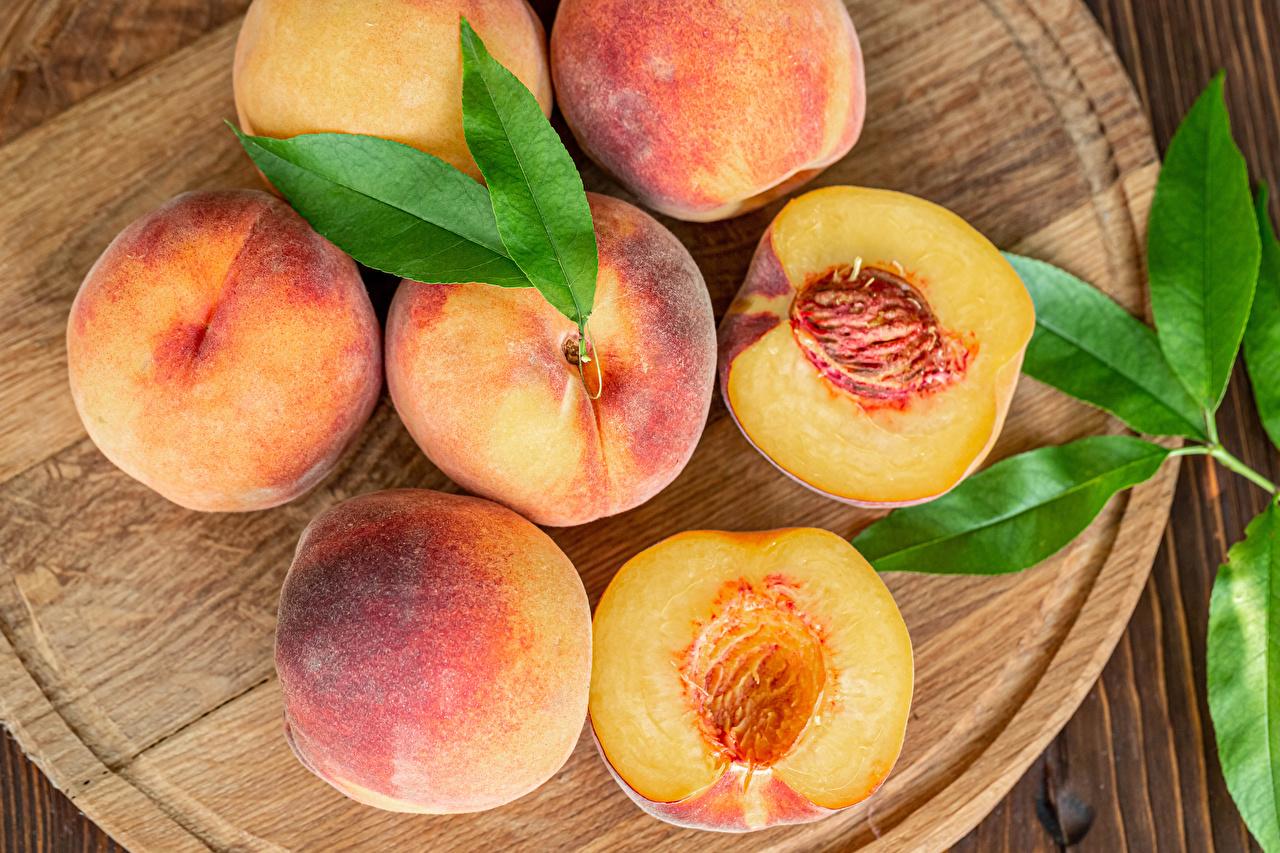 ,桃,特寫,砧板,食品,食物,