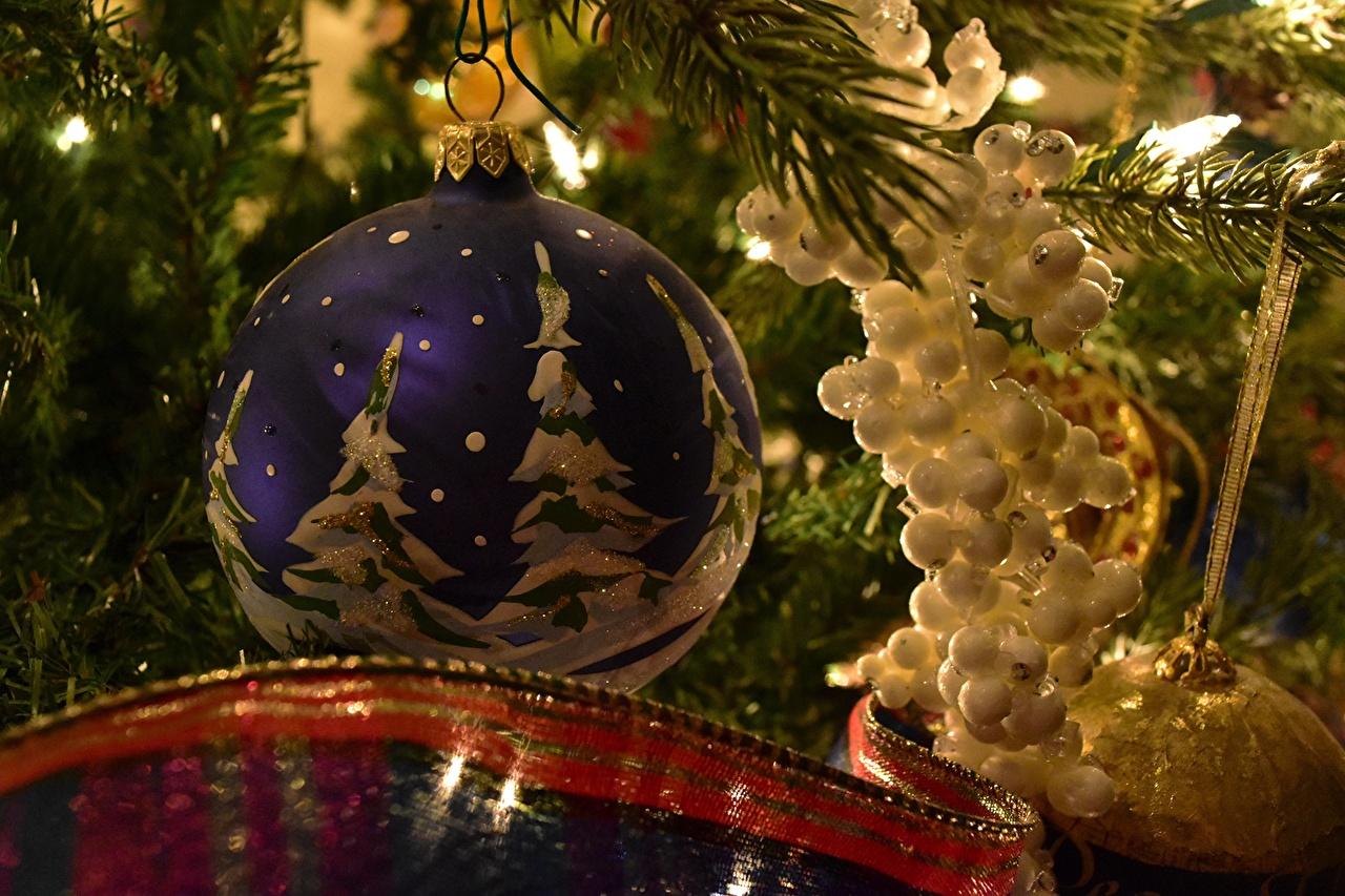 Image Christmas Christmas tree Balls New year New Year tree