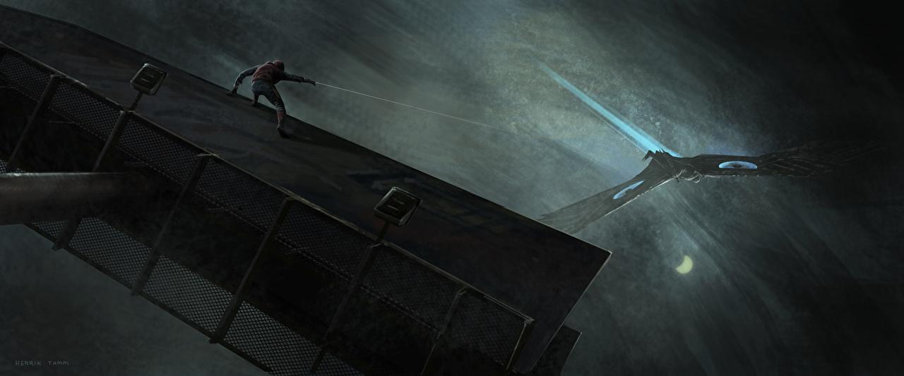 Desktop Wallpapers Spider-Man: Homecoming Heroes comics Spiderman hero Vulture film superheroes Movies