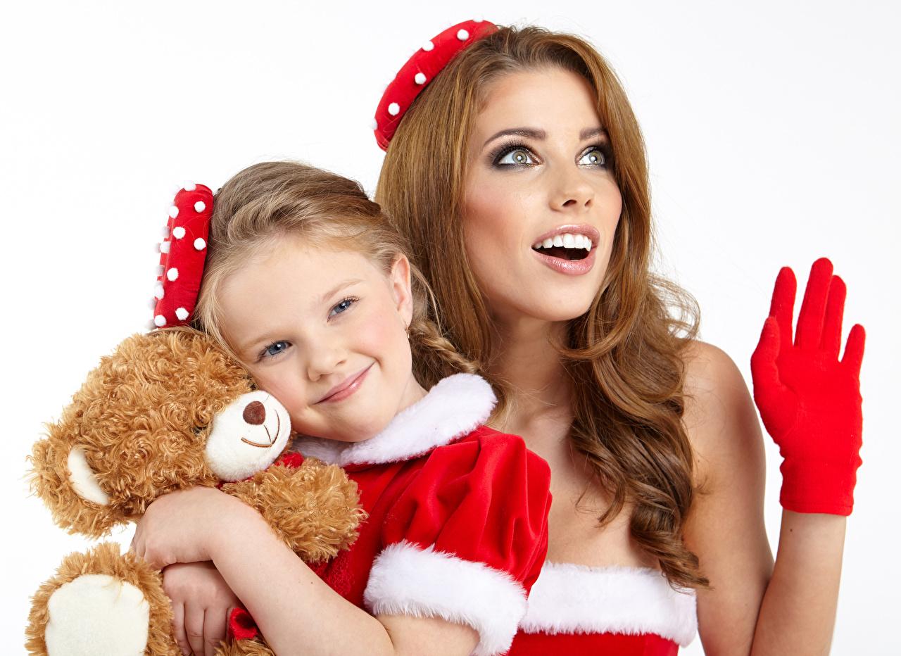 Wallpaper Little girls Smile Children Girls Teddy bear child female young woman