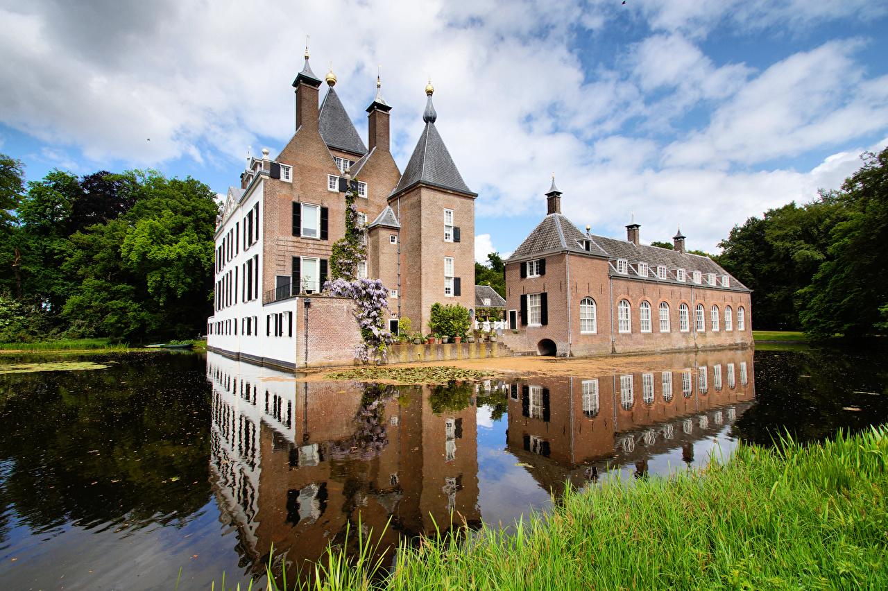 Обои нидерланды, замок, утрехт. Города foto 10