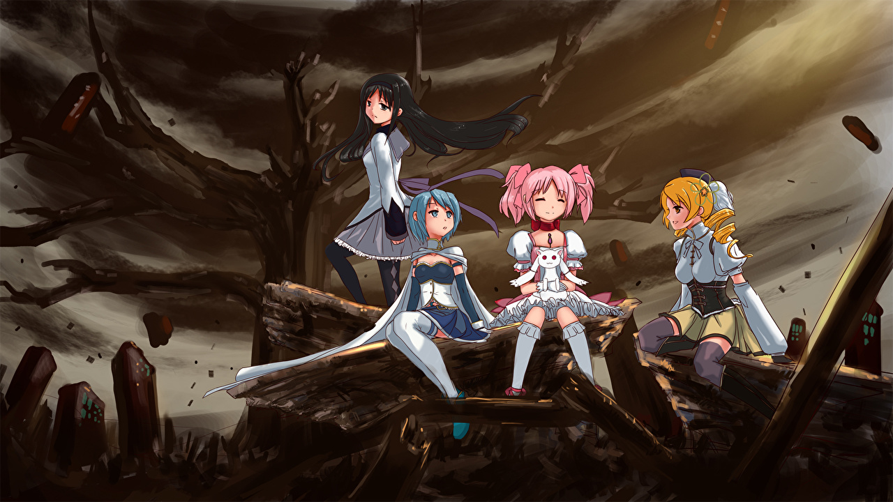 Desktop Wallpapers Mahou Shoujo Madoka Magica Anime