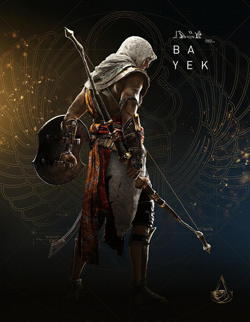 、Assassin's Creed Origins、ウォリアーズ、射手、Bayek、弓矢、��ンピュータゲーム、ゲーム、用 携帯電話