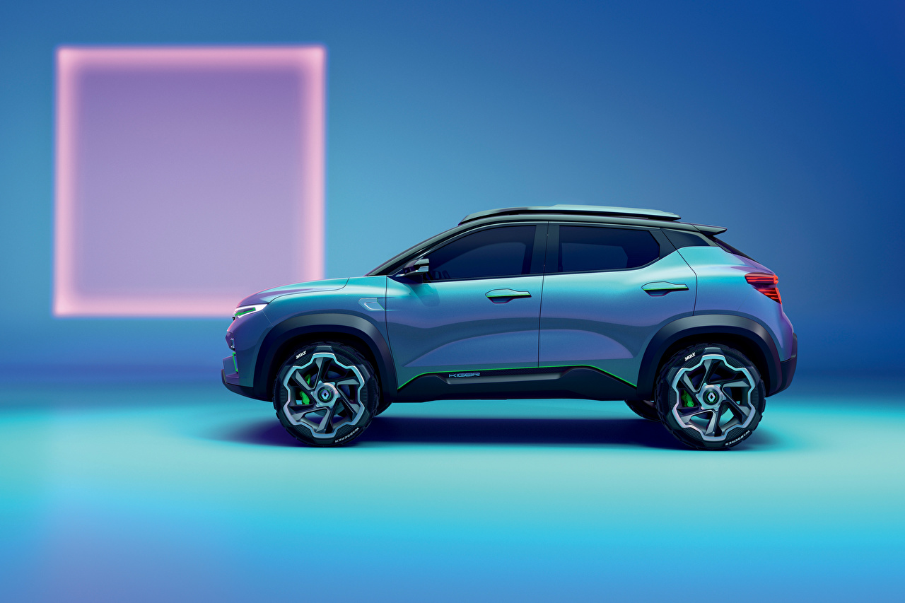 Photos Renault CUV Kiger, 2020 Light Blue Side automobile Crossover Cars auto