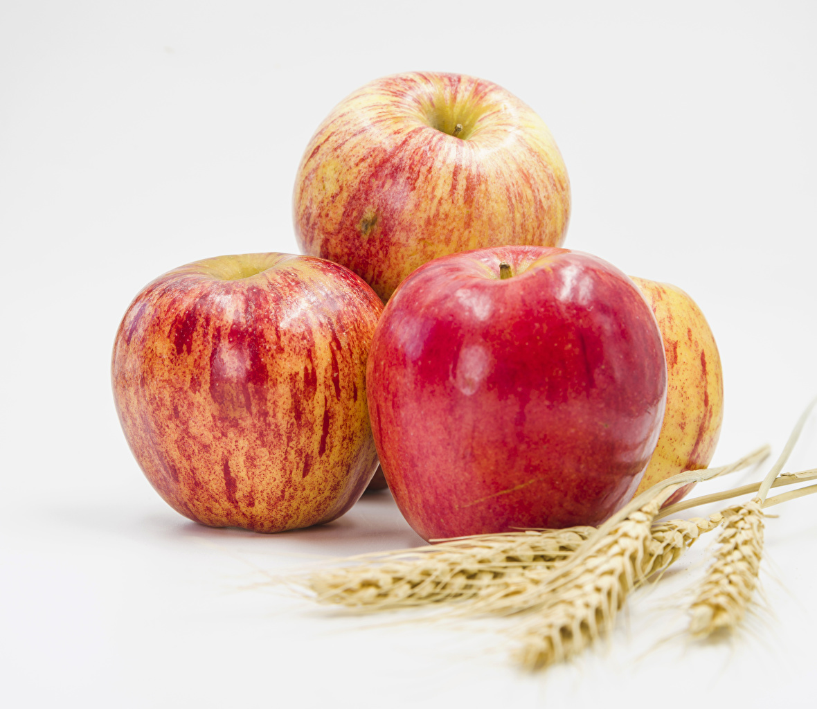 Images Apples Ear botany Food Closeup White background