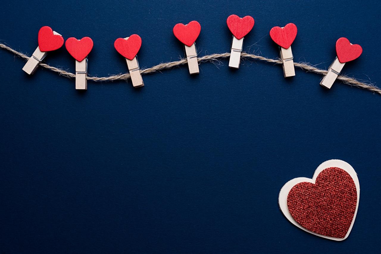 Desktop Hintergrundbilder Valentinstag Herz Wäscheklammer Vorlage Grußkarte