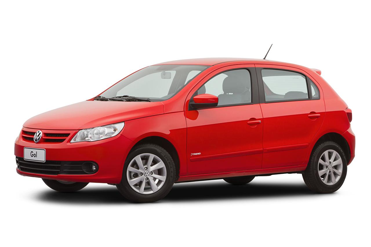 Fotos von Volkswagen Rot automobil Metallisch Weißer hintergrund auto Autos
