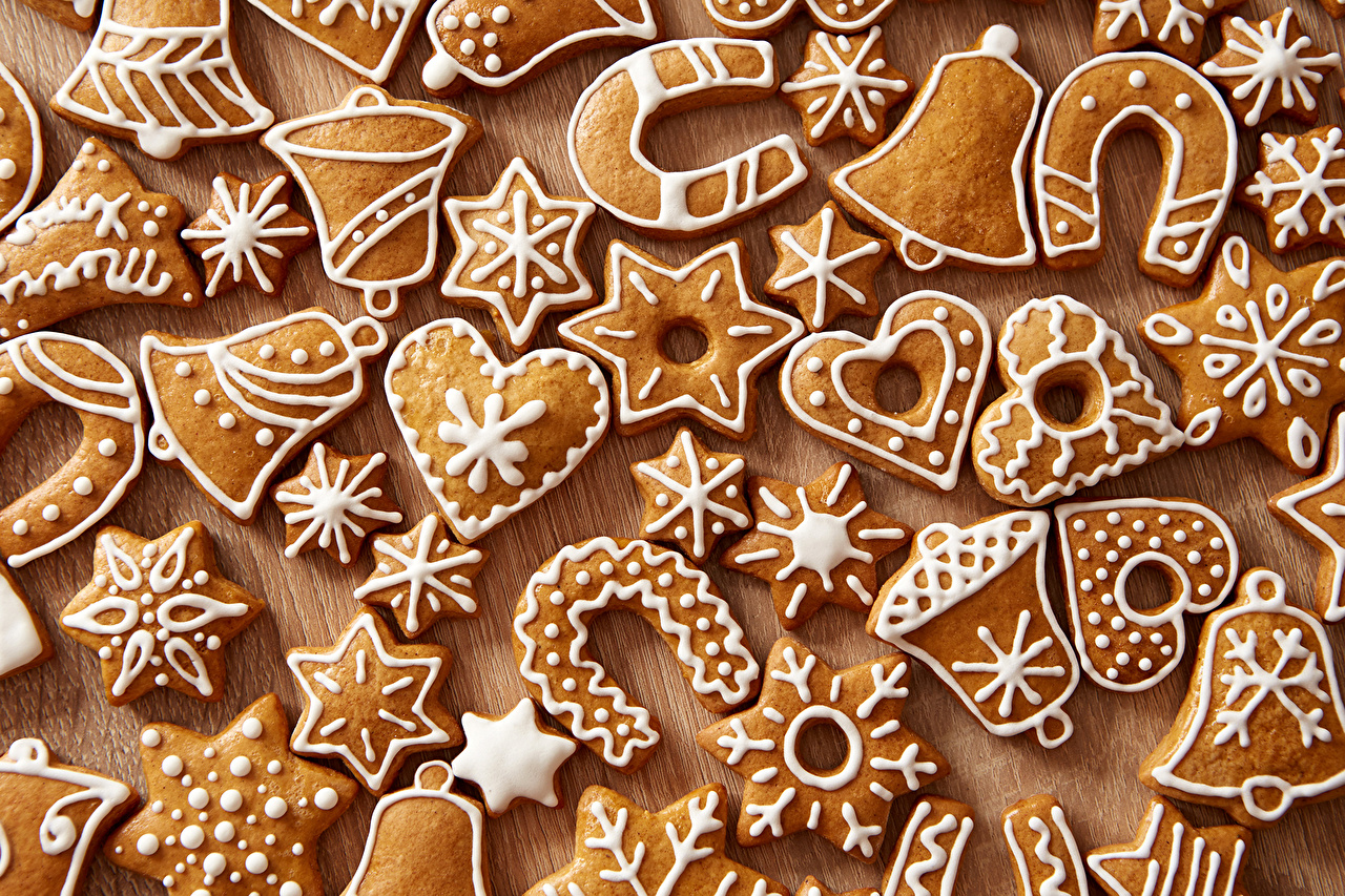 壁紙 新年 ペイストリー クッキー デザイン 圣诞钟 ハート 食品
