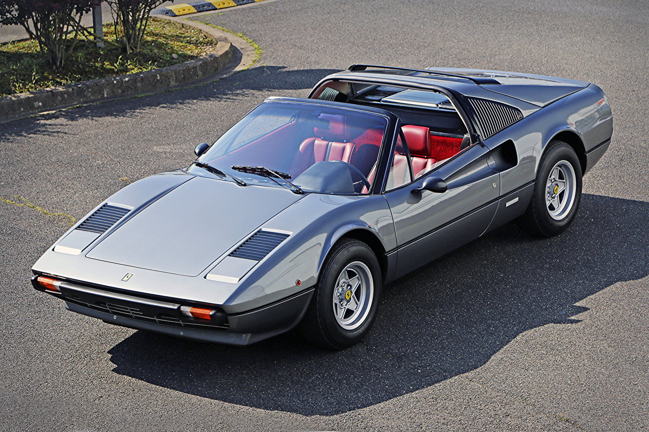 Photos automobile Ferrari 1977-80 308 GTS Worldwide Metallic vintage Pininfarina Convertible Cars auto Retro antique Cabriolet