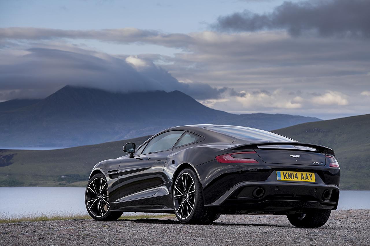 Image Aston Martin 2014, Vanquish Black Back view automobile Cars auto