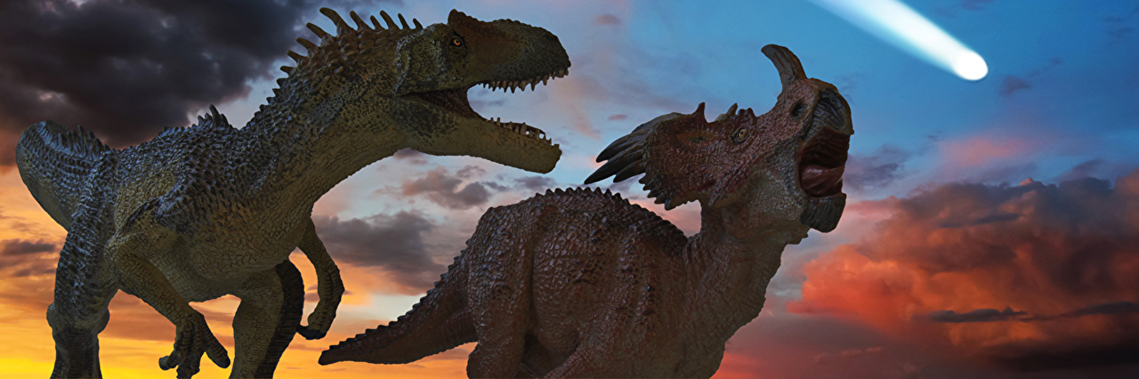 Photo Dinosaurs meteorite extinction Two Animals 2 animal