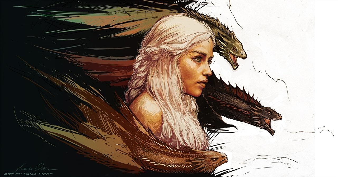 壁紙 ゲーム オブ スローンズ ドラゴン Daenerys Targaryen
