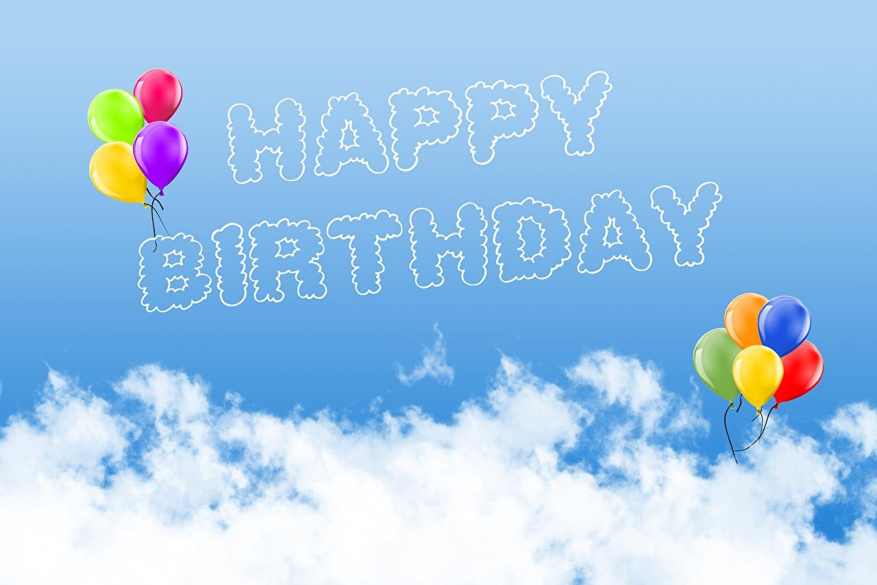 Fotos Geburtstag Englisch Luftballon Himmel Wolke