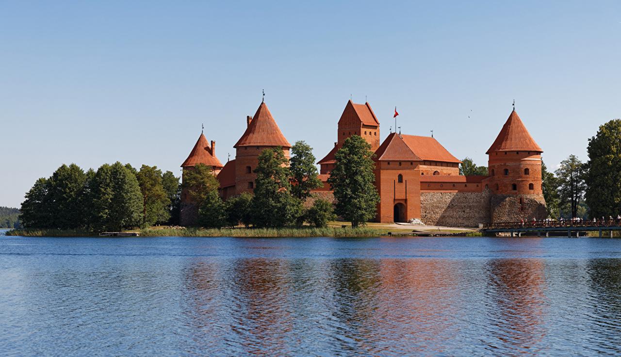 Foto Litauen Castle Trakai Burg See Städte