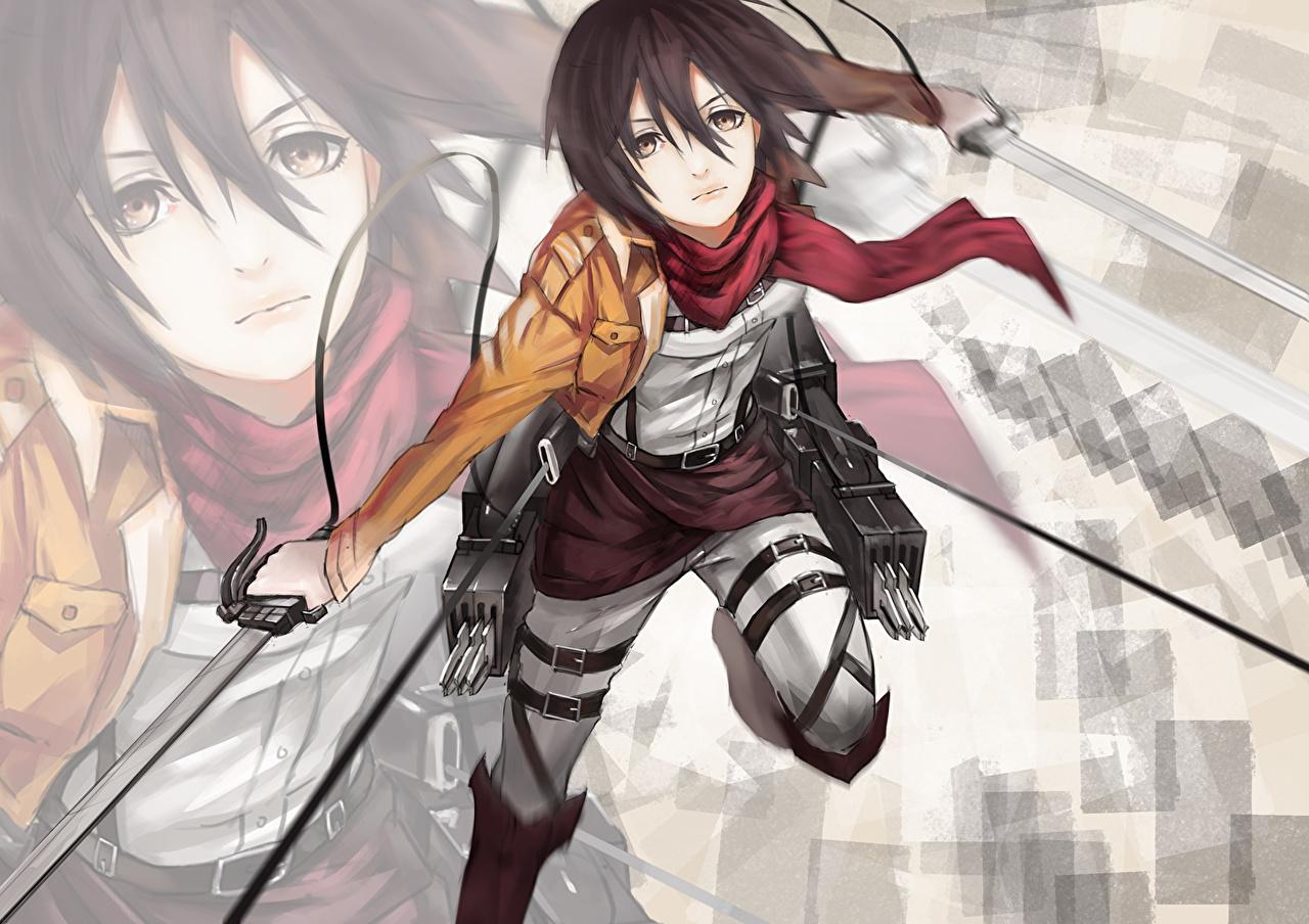 壁紙 進撃の巨人 ウォリアーズ Mikasa Ackerman アニメ 少女