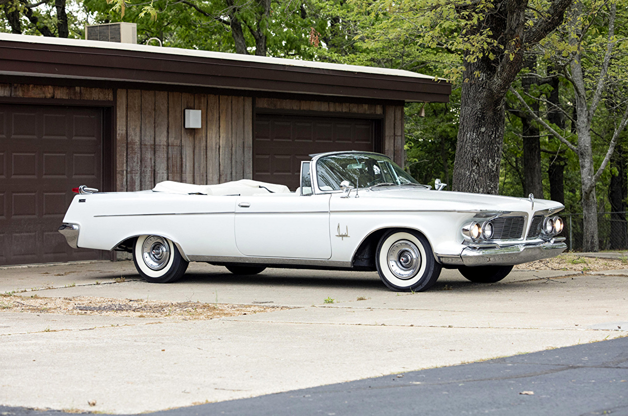 Photos 1962 Imperial Crown Convertible (SY1-M 925) Retro White Cars Cabriolet vintage antique auto automobile