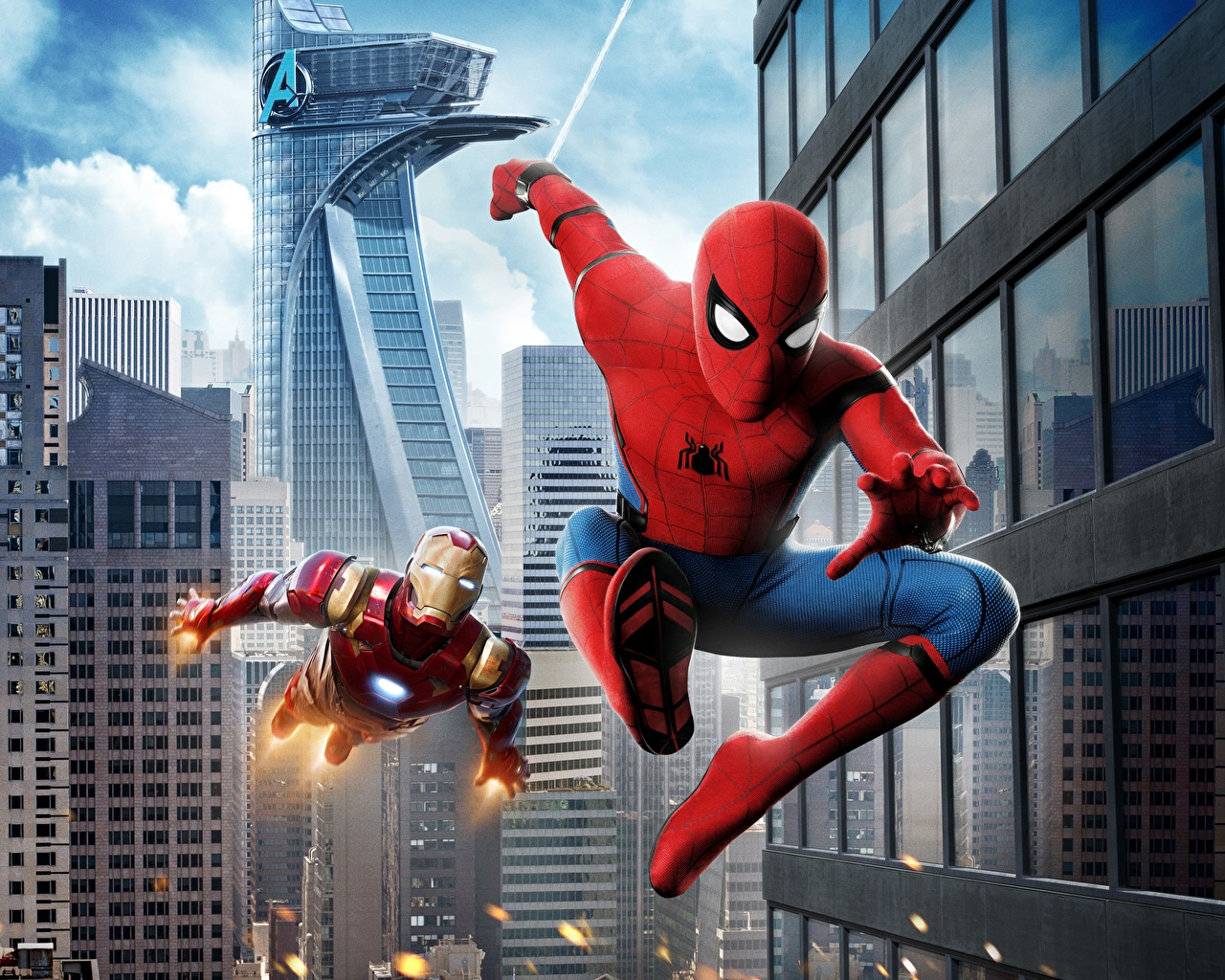 Papeis De Parede Spider Man Homecoming Spiderman Heroi Iron Man