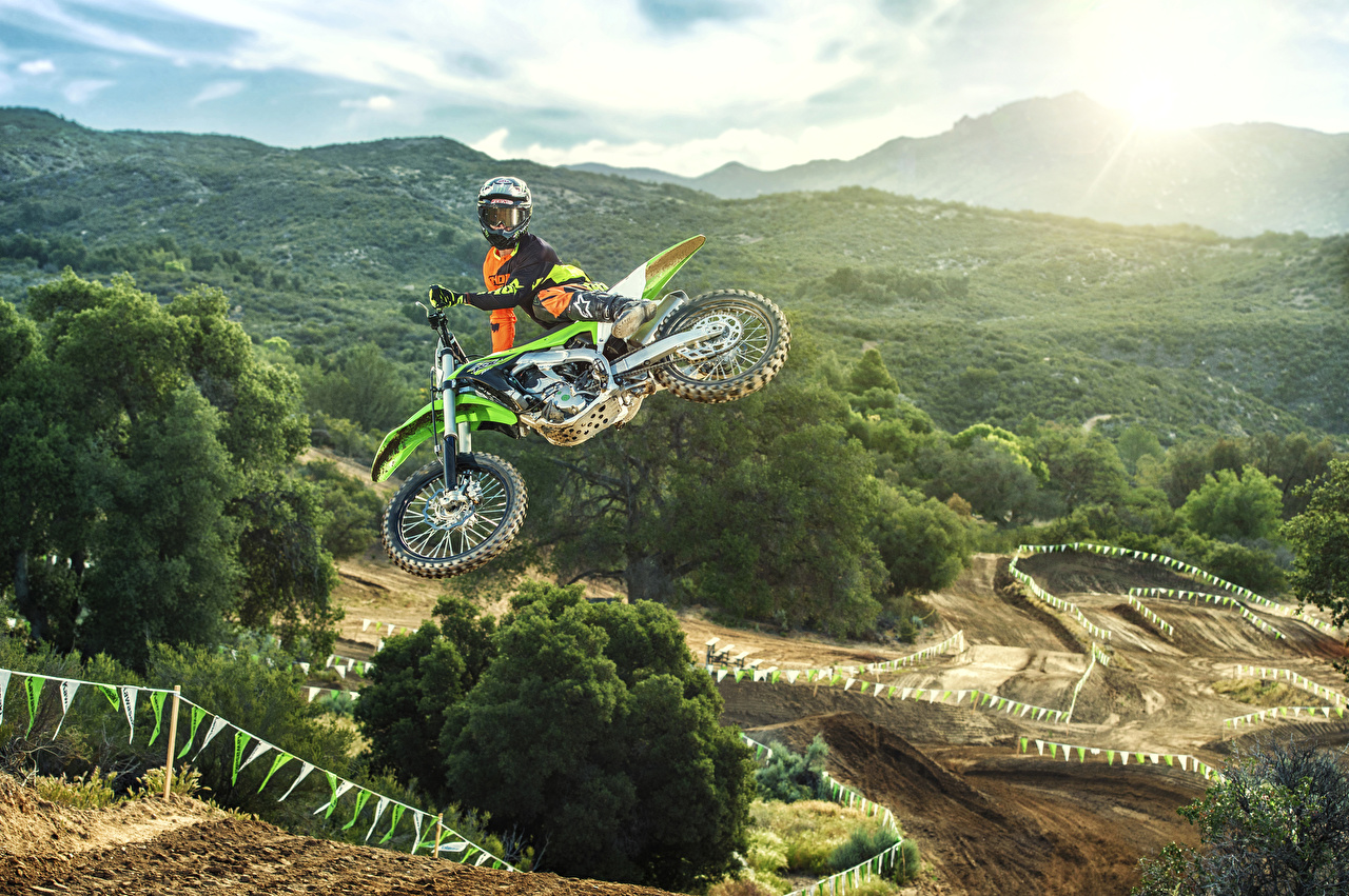 Picture Kawasaki Helmet 2016 KX250F Nature Motorcycles Jump Motorcyclist motorcycle