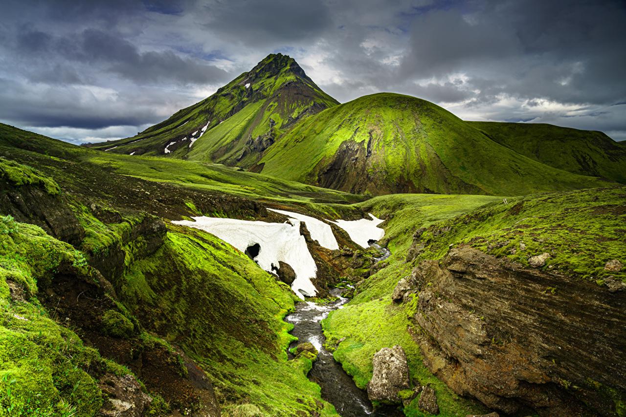 Images Iceland Gaia Nature Mountains mountain