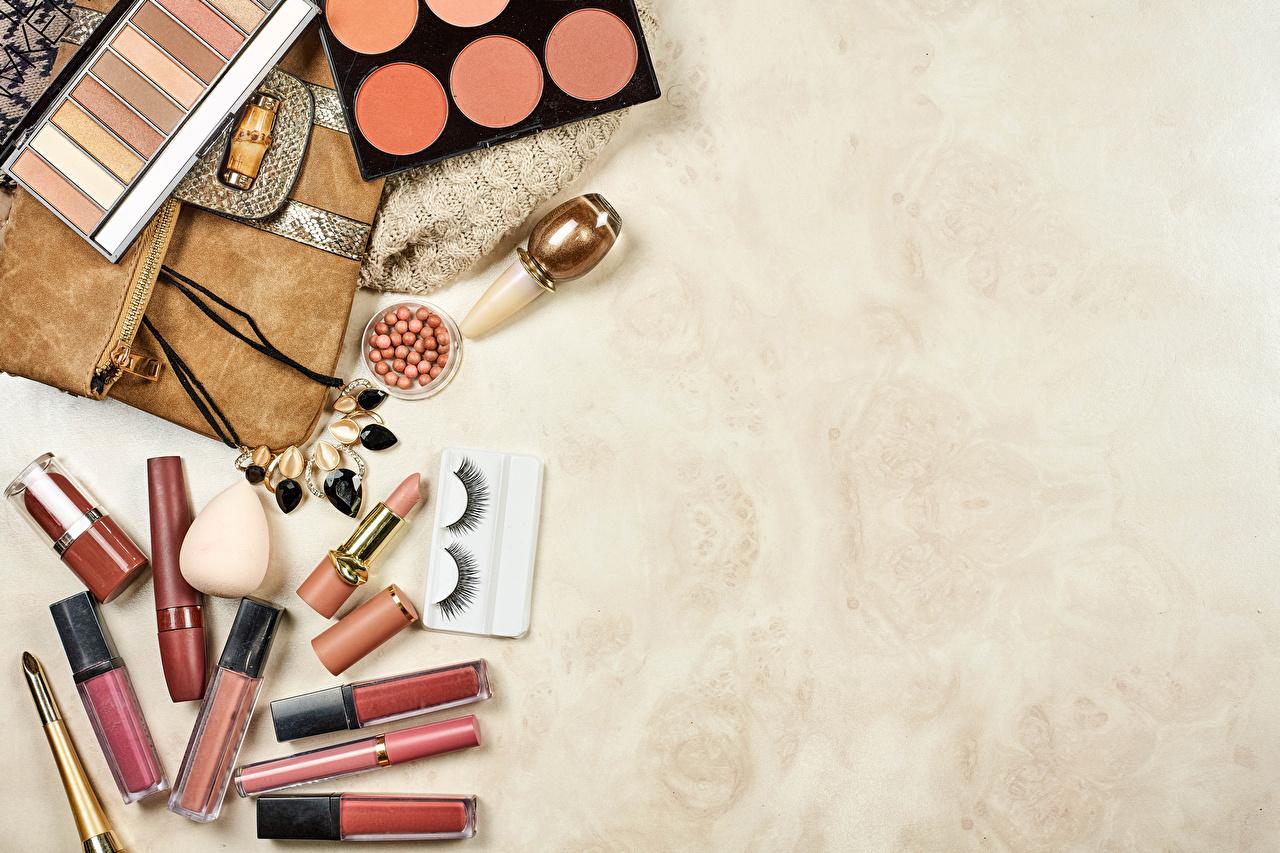 Bilder von Wimper Kosmetik Bleistift Lippenstift Vorlage Grußkarte bleistifte