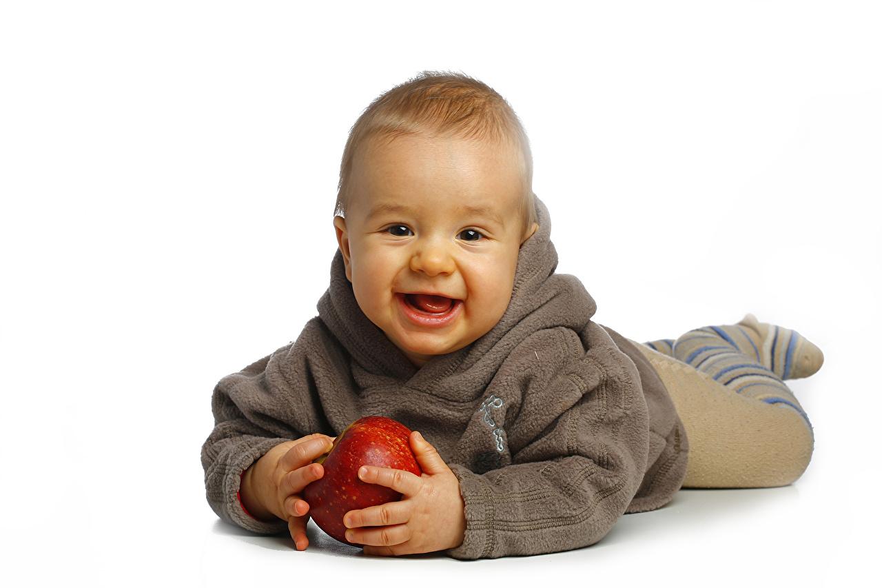 Maçãs Bebê Sorrir criança Crianças