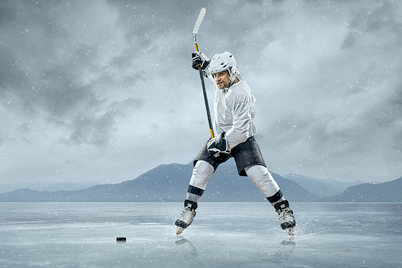 Pictures Men Helmet Ice sports Hockey Uniform Man Sport athletic
