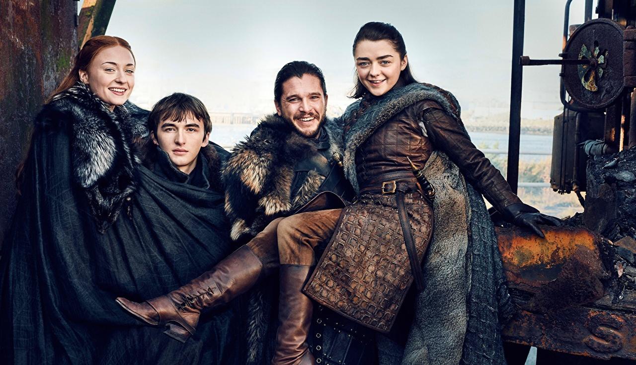 Image Game of Thrones Kit Harington Men Smile season 7, Jon Snow, Arya Stark, Bran Stark, Sansa Stark Girls Movies Celebrities Man female young woman film