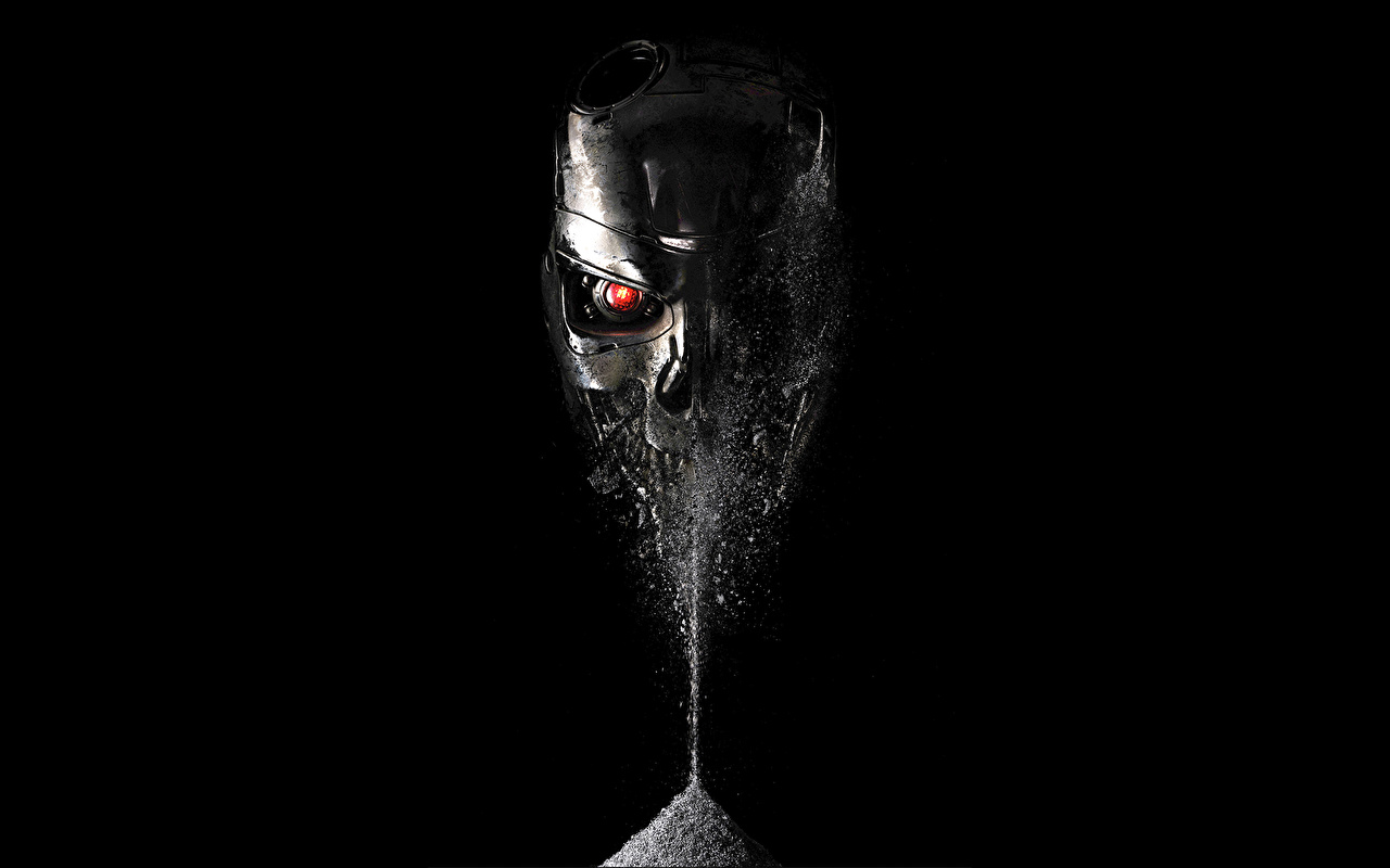 zdjęcia Fantasy Terminato (film) Terminator: Genisys Czaszki roboty film metaliczny czaszka Robot Filmy Metal metalowy metalowa