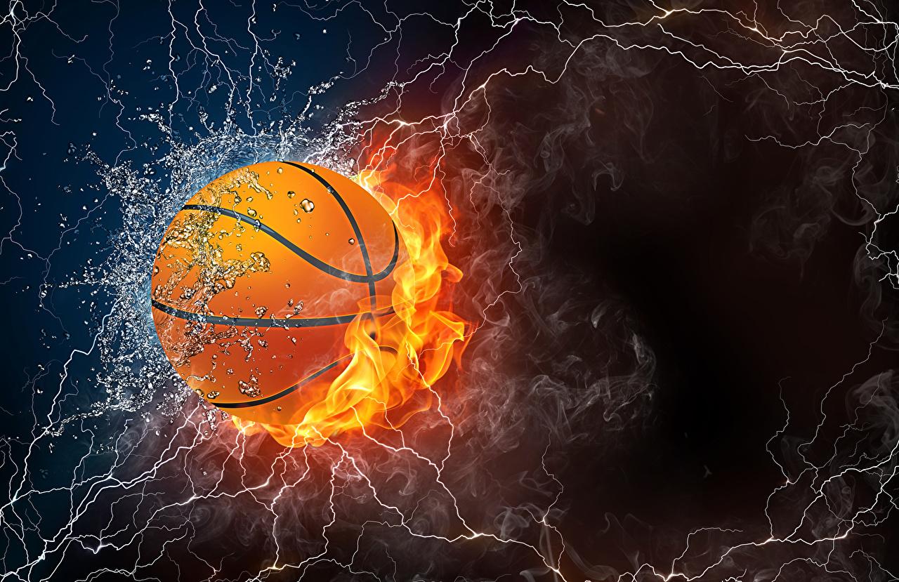 壁紙 3840x2160 バスケットボール 男性 飛び スポーツボール
