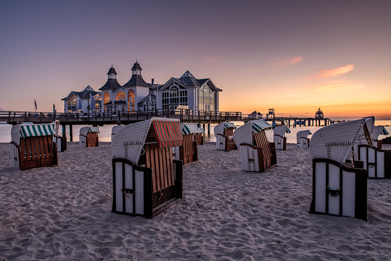 Immagini Germania spiagge Natura Mattino La costa Spiaggia mattina litorale