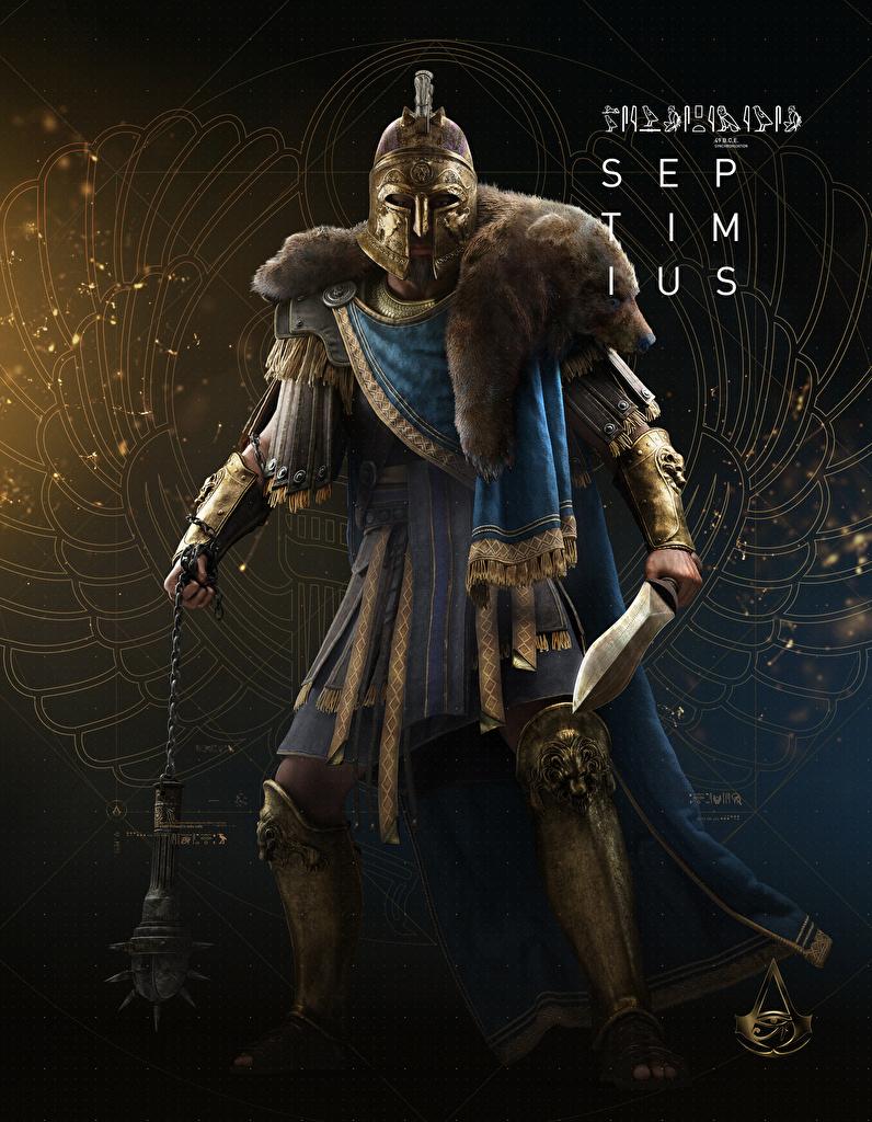Pictures Assassins Creed Origins Swords Warriors Septimius Vdeo
