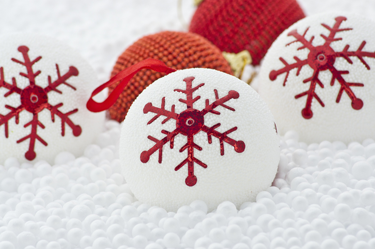 Images Christmas Snowflakes Snow Balls Toys New year toy
