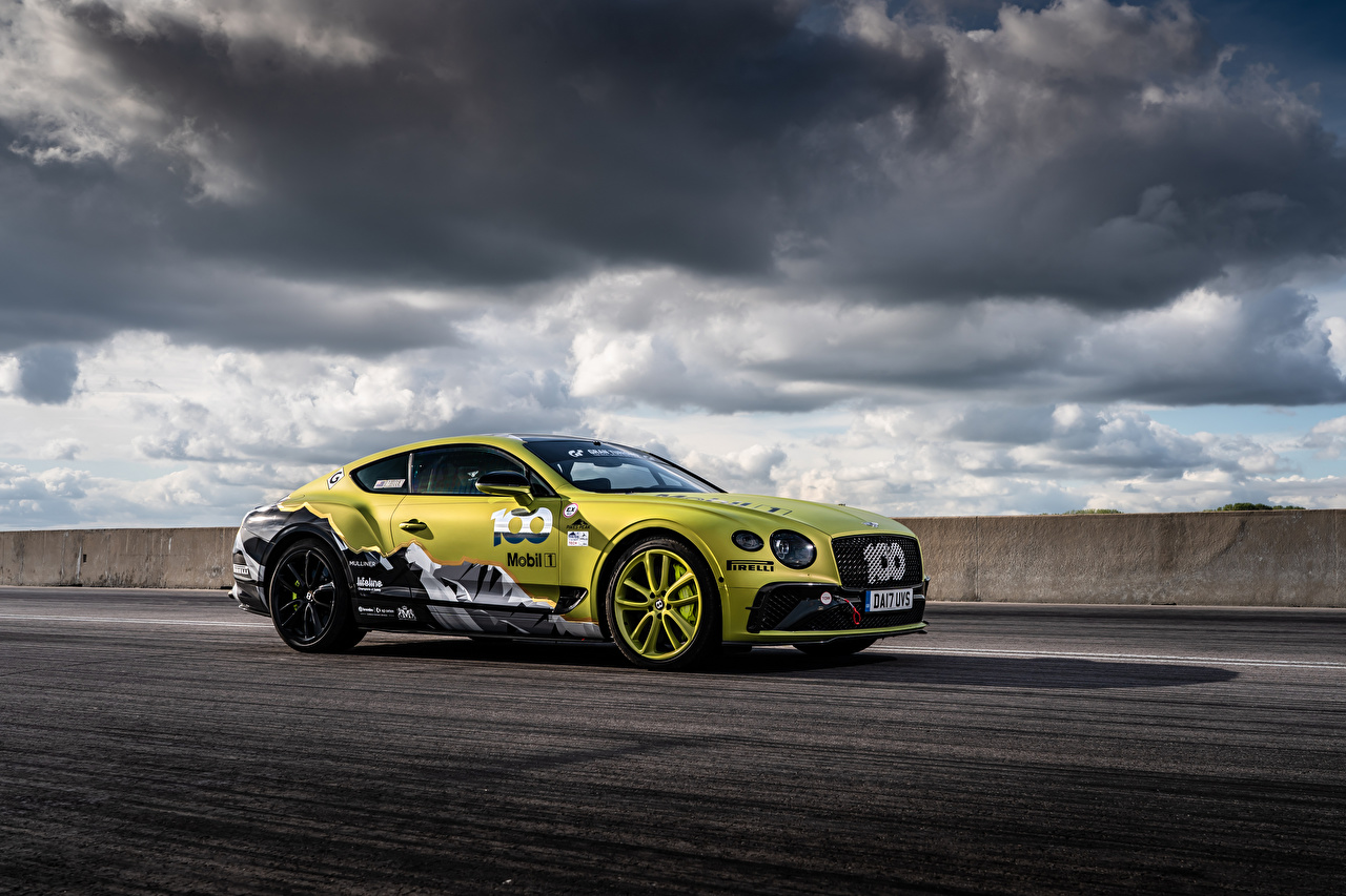 Pictures Bentley Continental GT Pikes Peak, 2019 Side automobile Clouds Cars auto