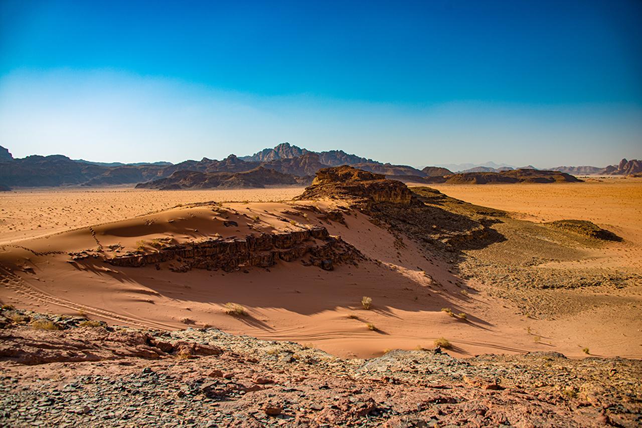 Bilder von Wadi Rum, Jordan Natur Wüste Felsen Steine Stein