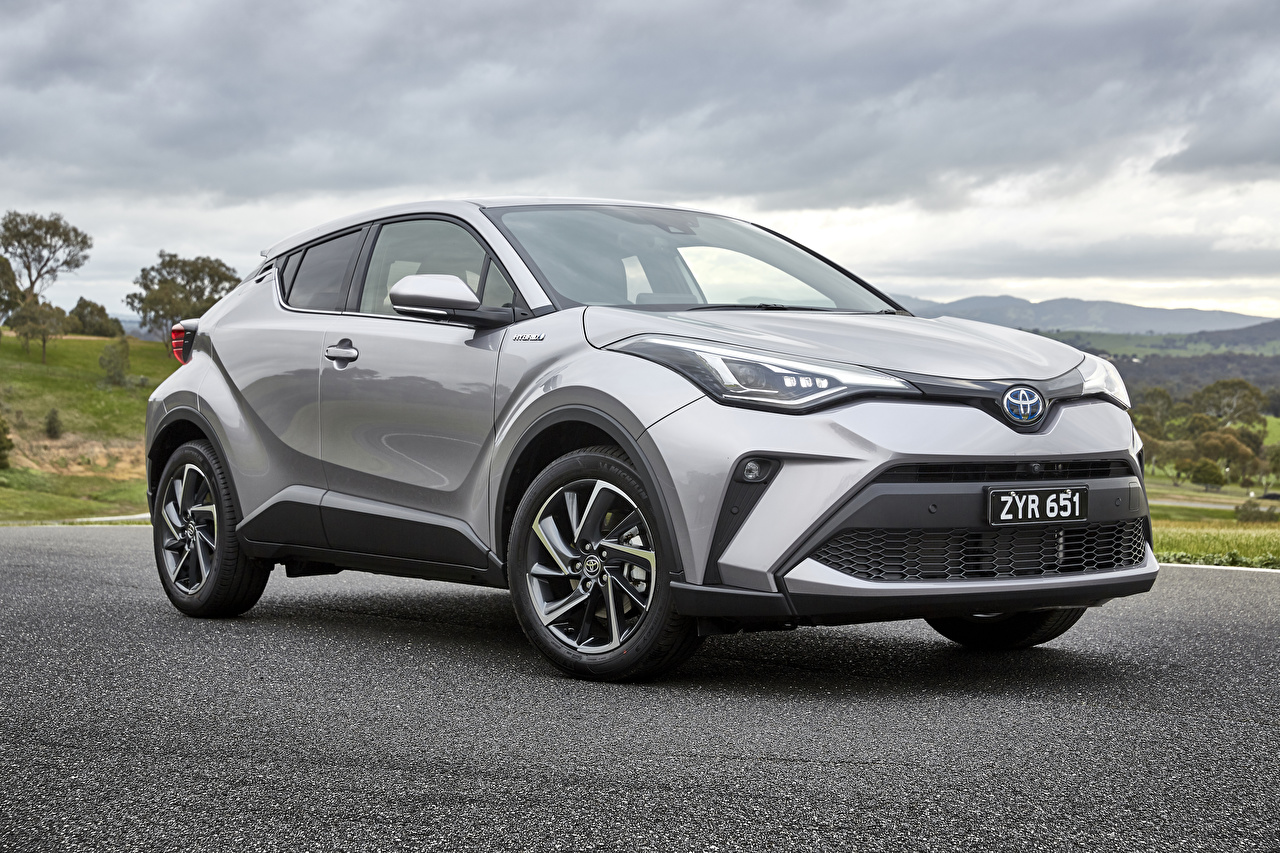 Picture Toyota 2019 C-HR Koba Hybrid Hybrid vehicle gray Cars Grey auto automobile