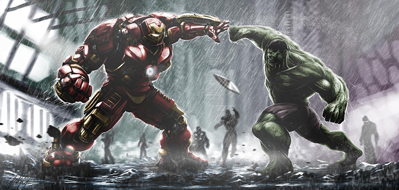 Photos Avengers: Age of Ultron Hulk hero Iron Man hero hulkbuster tony stark bruce banner Fantasy Movies film