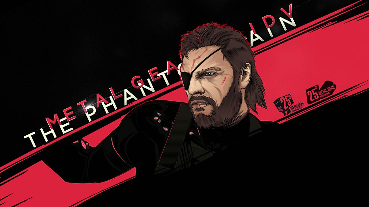 Wallpaper Metal Gear Men Eye Patch Big Boss Naked Snake Solid V The