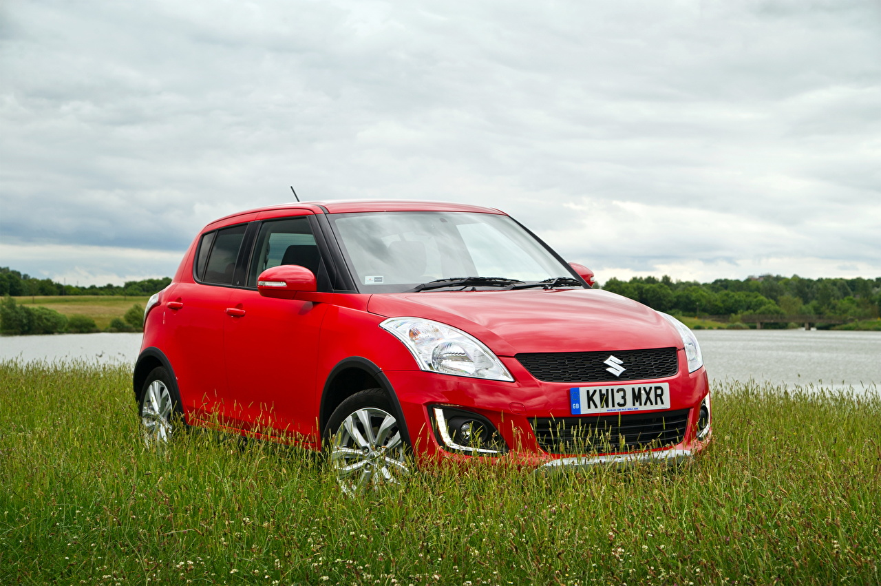 Wallpaper Suzuki - Cars 2013 Swift 4x4 SZ4 Red auto Grass Cars automobile