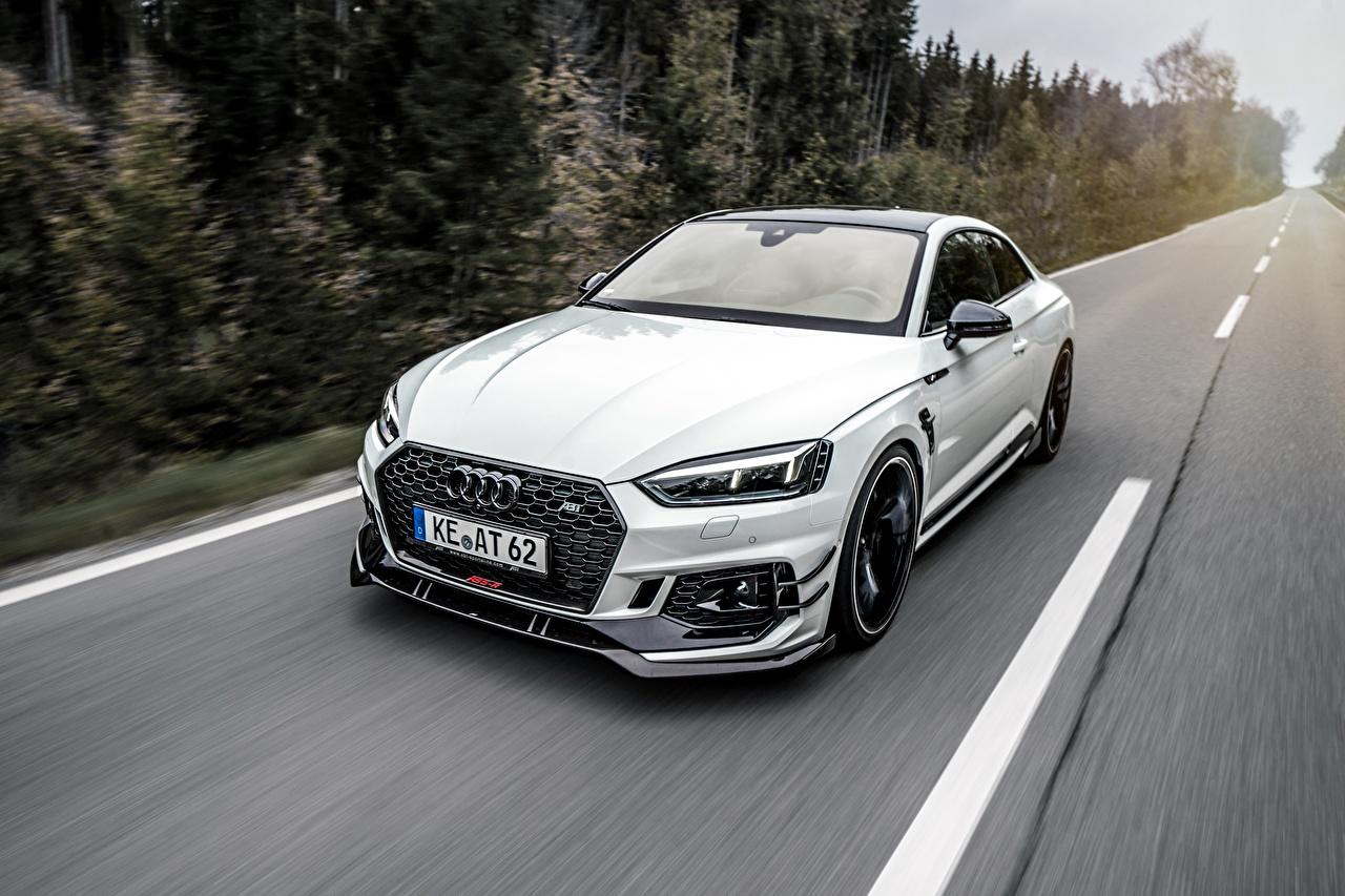 Tapety Na Pulpit Audi Rs5 R Coupé Biały Jedzie Samochody