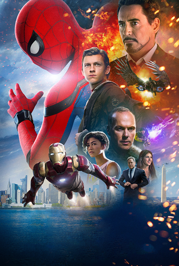 Pictures Spider-Man: Homecoming Iron Man hero Spiderman hero Movies  for Mobile phone film