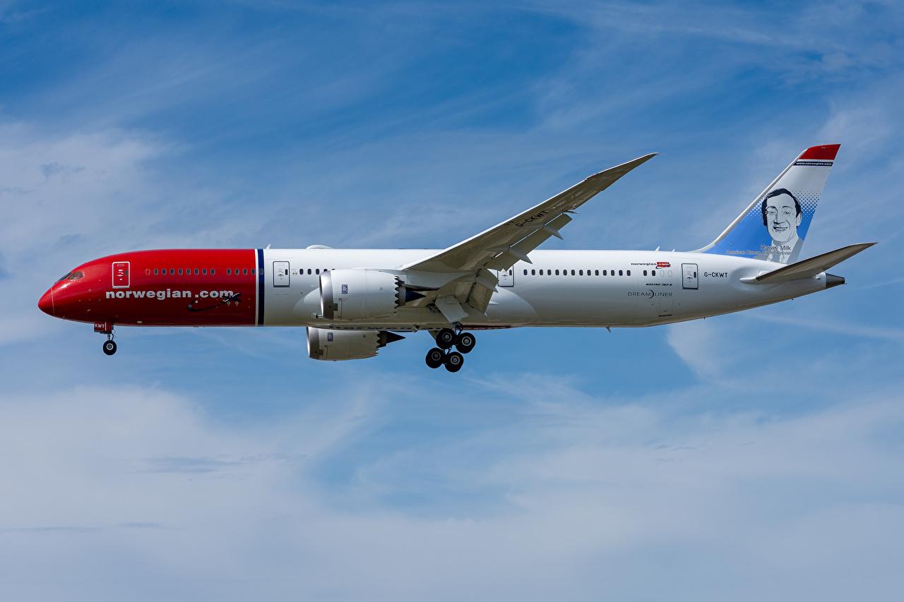 Fotos von Boeing Flugzeuge Verkehrsflugzeug 787-9, Norwegian Air Seitlich Luftfahrt