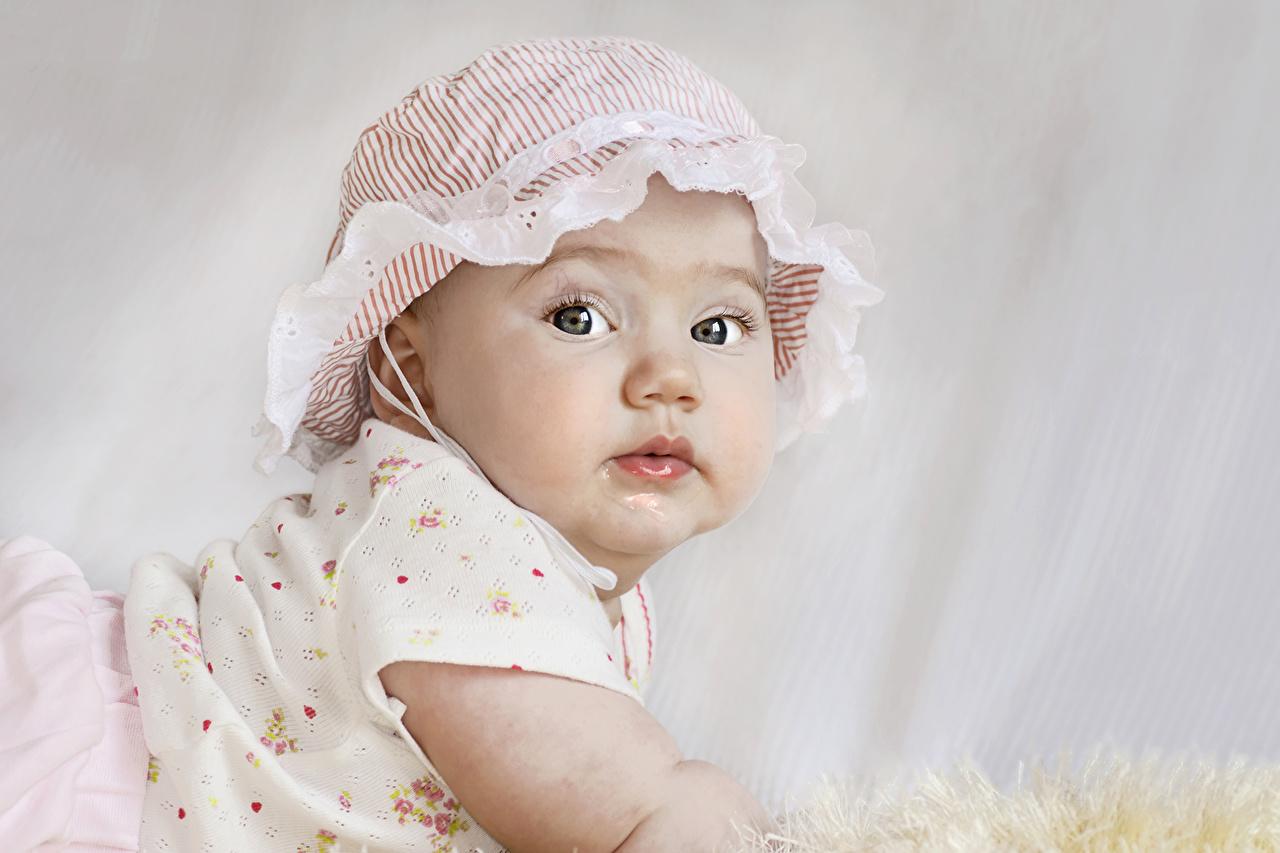 Fonds decran Jour fériés Nouvel An Petites filles Chapeau
