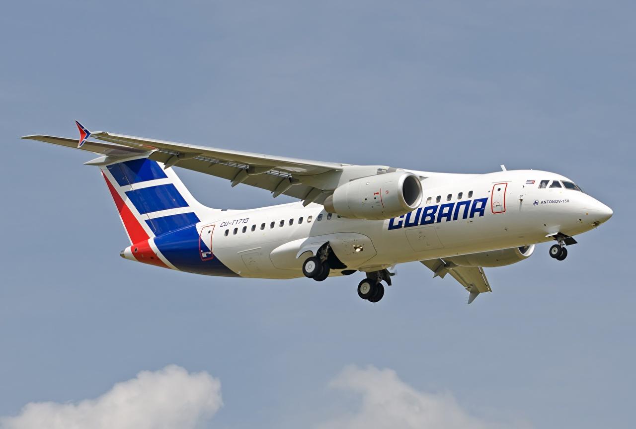 zdjęcia Samoloty Samolot pasażerski An-158 latająca Lotnictwo samolot Lot