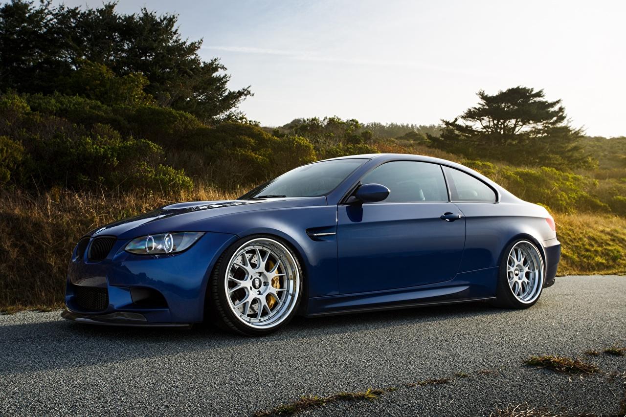 Image BMW m3 e92 laguna Blue Side auto Cars automobile