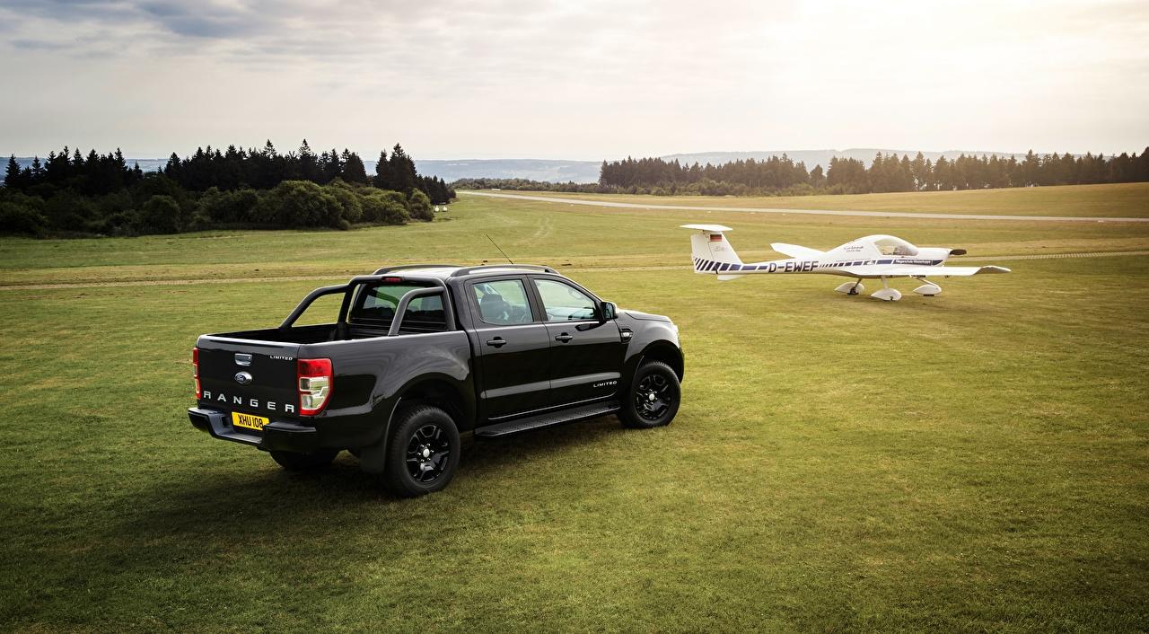Avions Ford Ranger, Limited Black Edition Noir Métallique Pick-up voiture, automobile, Pickup Voitures